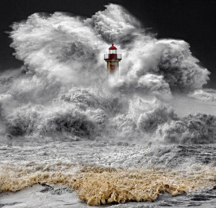 ~~unbeaten ~ crashing waves hit a lighthouse, Porto, Portugal by Veselin Malinov~~