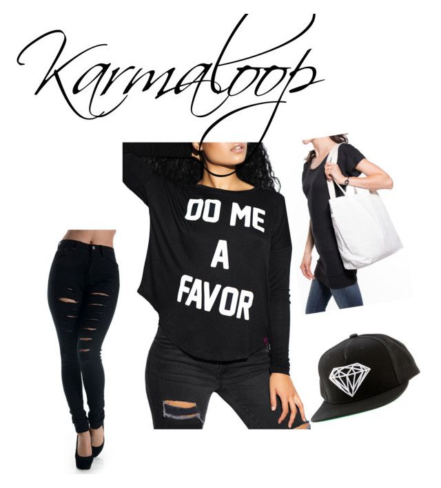 """""""Karmaloop #1"""" by allefale ❤ liked on Polyvore featuring Married to the Mob, Diamond Supply Co., women's clothing, women, female, woman, misses and juniors"""