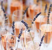 #Wedding #Hochzeit #Empfang #Reception #Drink #Champagner #Sommer #Summer #Lavendel #Cremant #rose