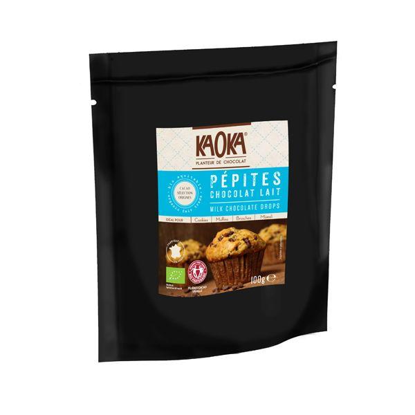 Pépites de chocolat au lait 36% 100g Kaoka   Acheter sur Greenweez.com