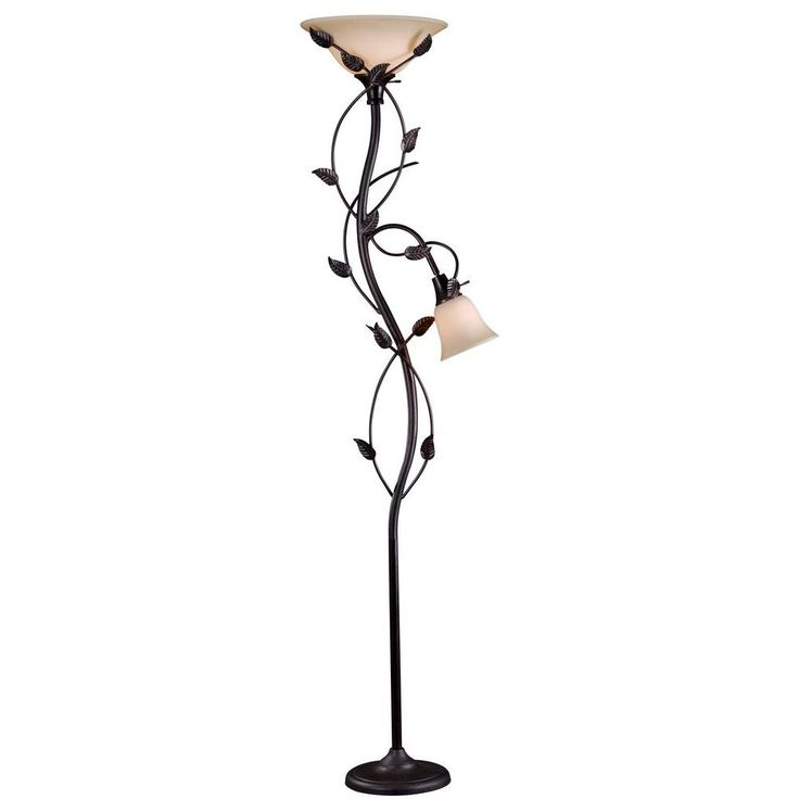 Kenroy Home Ashlen 72 In. Oil Rubbed Bronze Mother And Son Torchiere