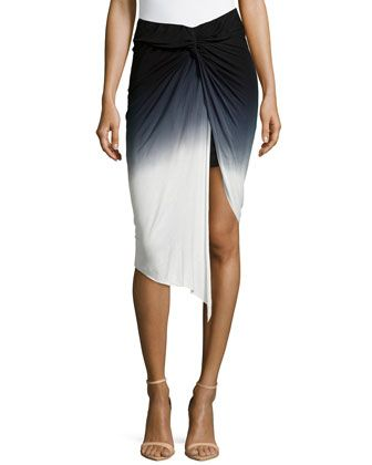 Kulani+Knotted+Skirt,+Black+Ombre+by+Young+Fabulous+and+Broke+at+Neiman+Marcus+Last+Call.