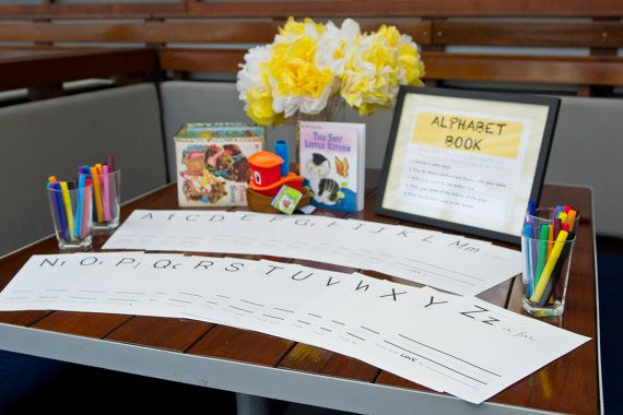 printable alphabet book pages - makes a great baby shower activity and keepsake