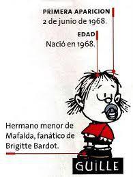 Mafalda y su hermanito Guille
