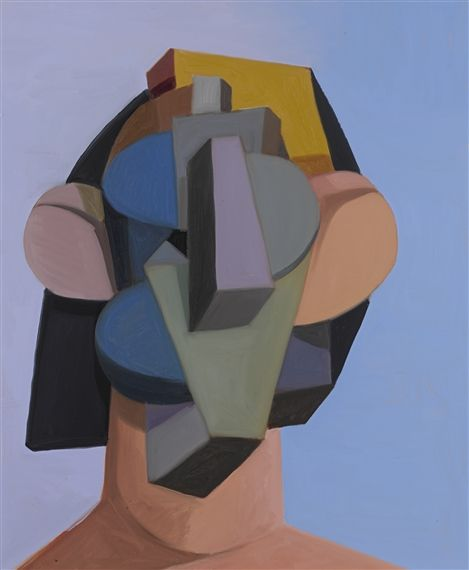 Artwork by George Condo, TOY HEAD, Made of oil on canvas