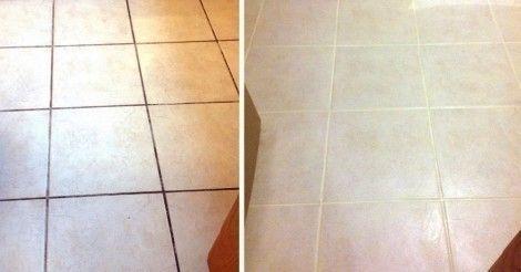 Una forma práctica y sencilla de limpiar las juntas de los azulejos y al mismo tiempo protegerlas para que no se vuelvan a ensuciar.
