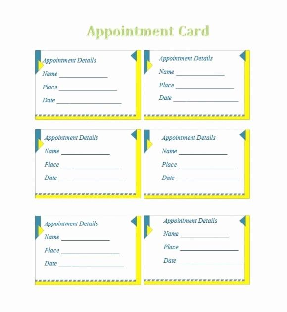 Free Printable Appointment Reminder Cards Unique 8 Appointment