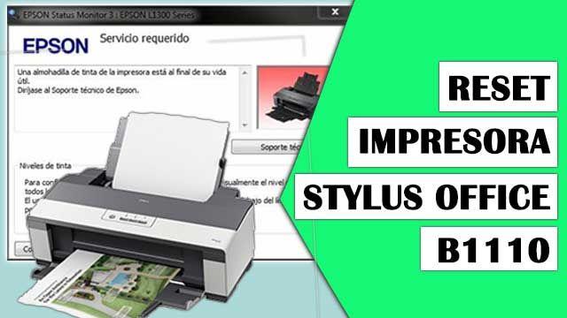 Resetear Impresora Epson Stylus Office B1110 Impresora Stylus Bandeja De Papel