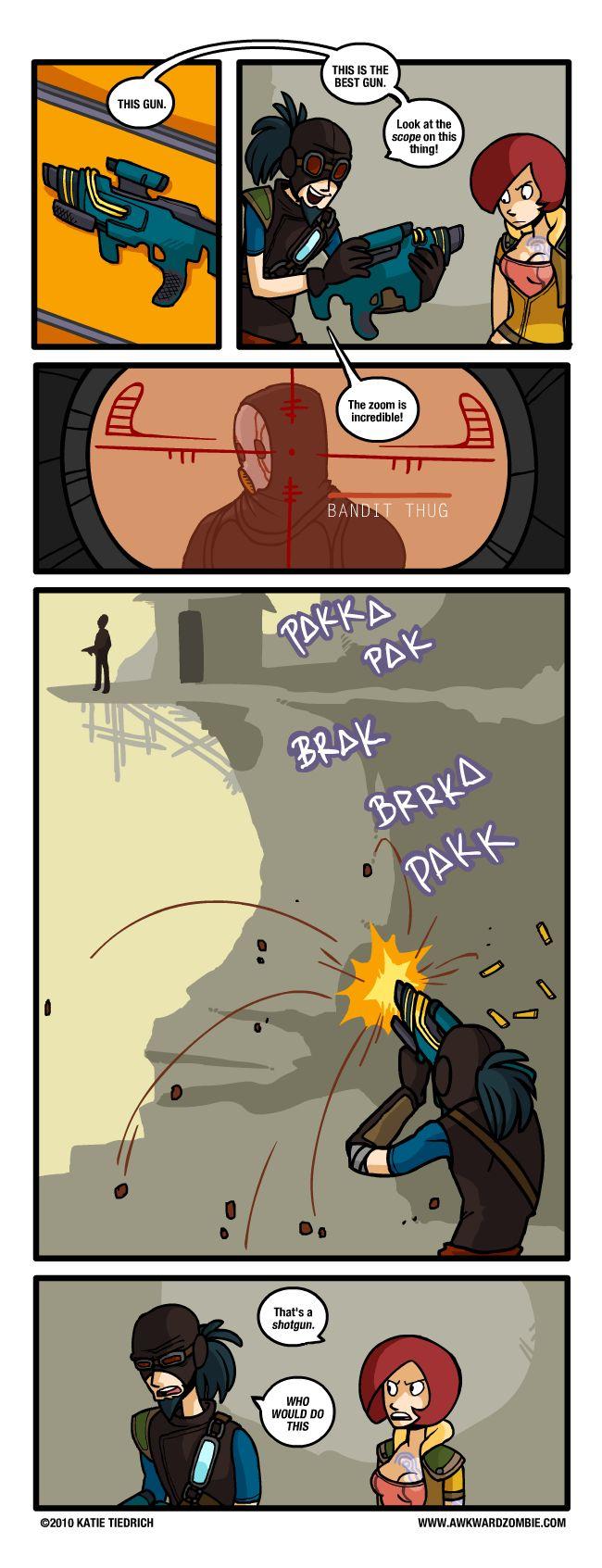 AWKWARD ZOMBIE comics.