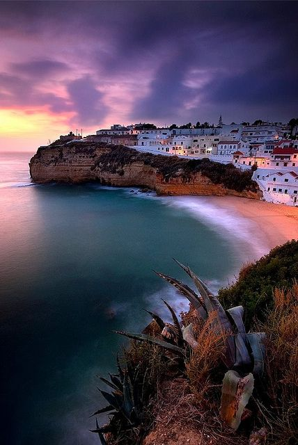 I'll be visiting this gem at the end of April!! :)) - #Portugal -Carvoeiro Beach, Algarve
