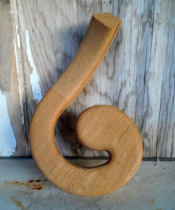 Best Red Oak Right Handed Volute Handrail Stain Grade By 640 x 480