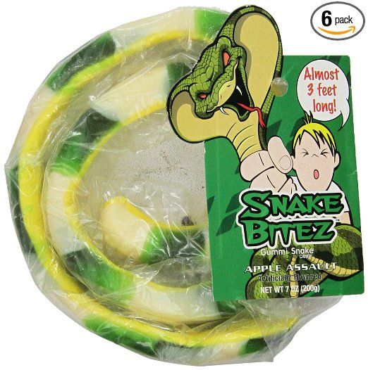 Snake Bitez Snake Bitez Gummi, 7-Ounce (Pack of 6)