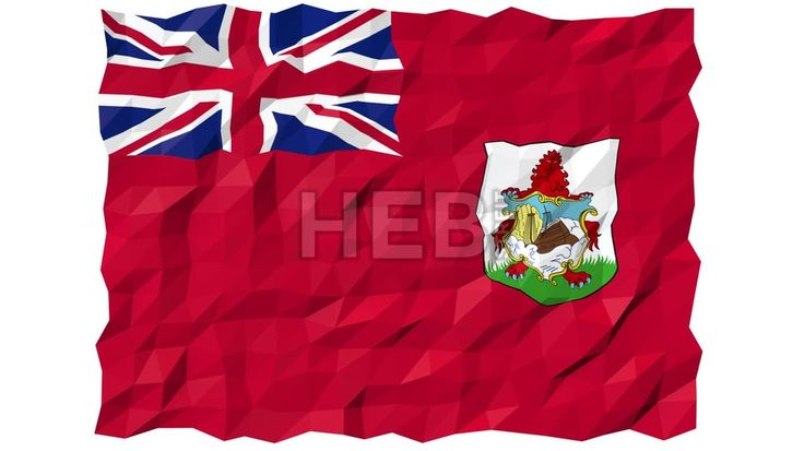 Flag of Bermuda 3D Wallpaper Animation, National Symbol, Seamless Looping Footage... ... by #Hebstreit