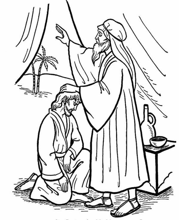 Isaac Give His Blessing to Jacob in Jacob and Esau