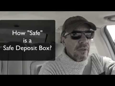 "How Safe is a Bank Safe Deposit Box | Steve from Check Book IRA goes into some detail on how the safe deposit boxes at your local bank are not necessarily ""safe"" for precious metals after all.  Want to learn more about retirement options and tips?  Click here - http://www.CheckBookIRA.net/videos"