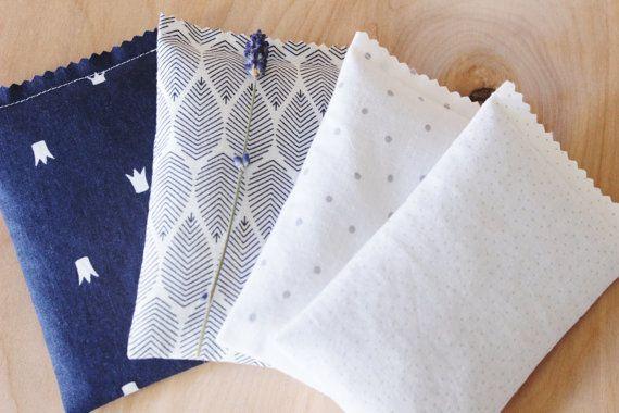 Modern Bedroom Decor Navy Blue White & Gray Lavender by Gardenmis