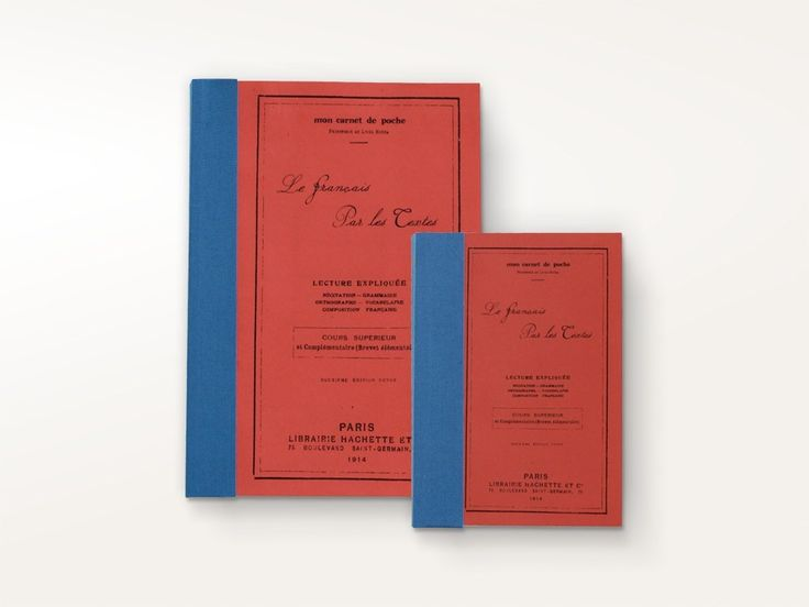 Vintage Notebook Red Text