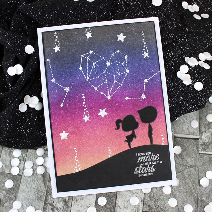 Card created using For the Love of Stamps by Hunkydory Crafts Starry Skies Stamp Set