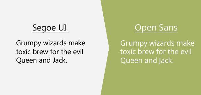 segoe-ui-open-sans | divi | Google fonts, Premium fonts
