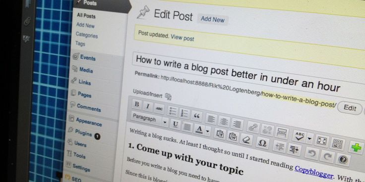 Writing a better blog post in less than an hour