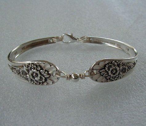 Spoon Bracelet Recycled Silverware Jewelry by LTCreatesJewelry, $27.00
