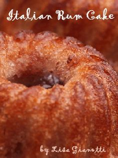 This italian rum cake recipe is one of the Italian cakes my grandma made.Yes, it's an easy to make cakes,  but it needs to sit.See over 225 Italian Dessert Recipes with photos.
