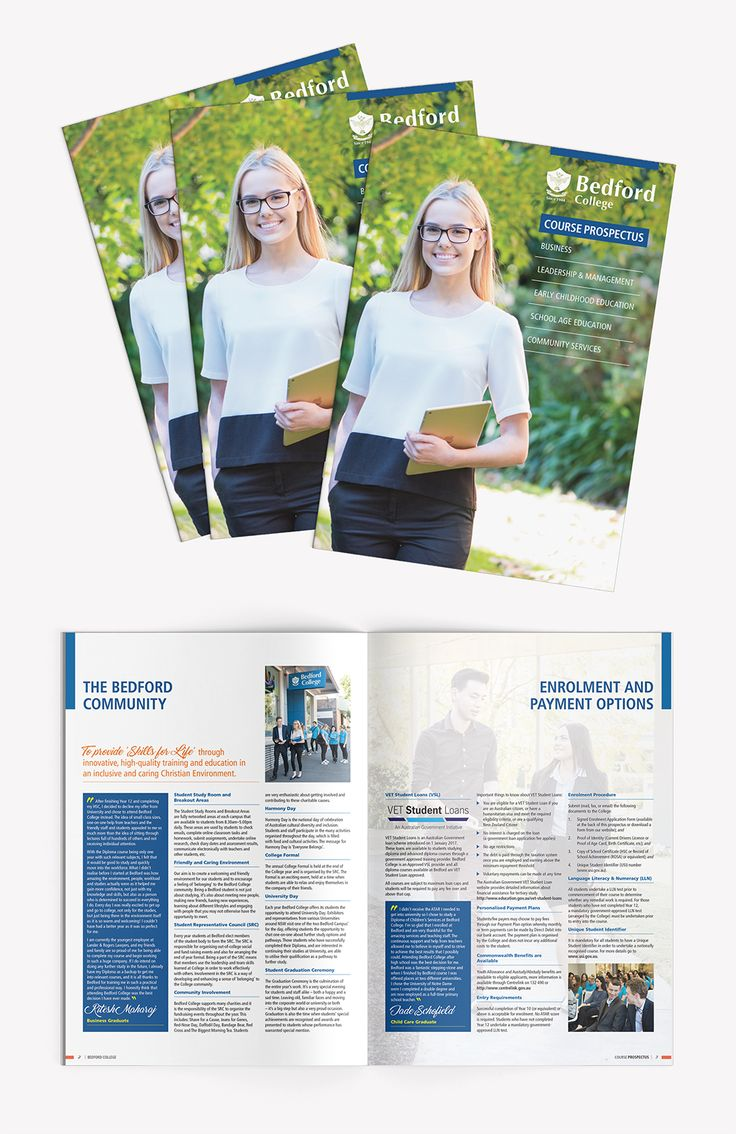 Design and print production of Bedford College Course Prospectus