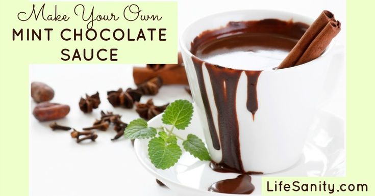 Make Your Own Mint Chocolate Sauce | Life Sanity  (with Peppermint YLEO)