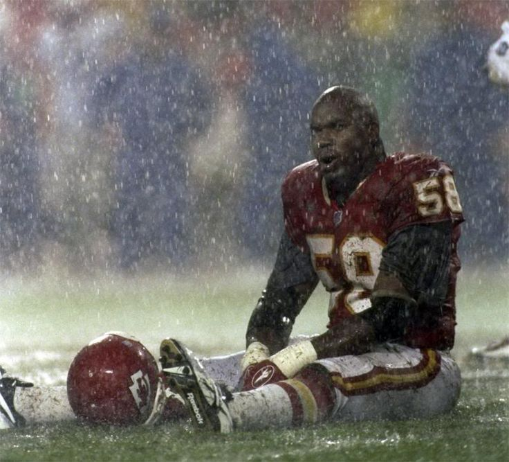 Chiefs -  The late Derrick Thomas during a football game