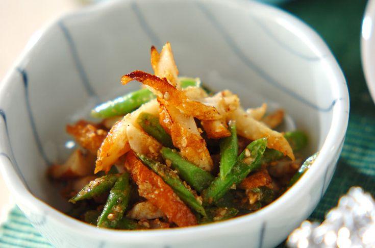 ちくわとインゲンのゴマ和え【E・レシピ】料理のプロが作る簡単レシピ/2009.06.08公開のレシピです。