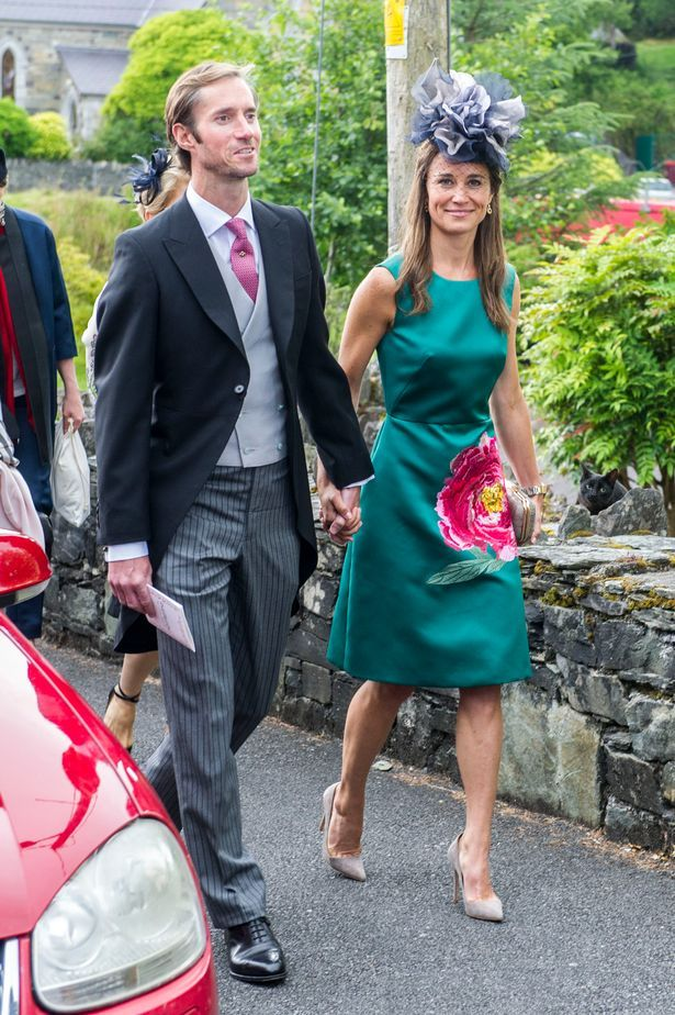 Pippa Middleton looks VERY loved-up as she attends society wedding in Cork with new husband James Matthews - Mirror Online