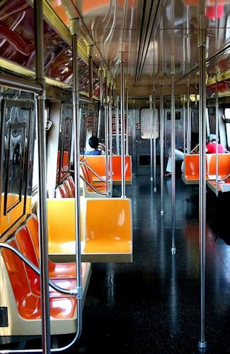 Quiet Ride  8X10 matted print  NYC subway by hockmanphotography, $40.00