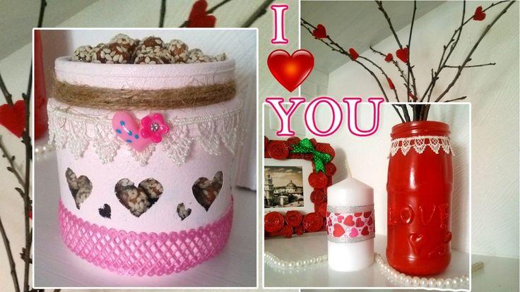 Поделки на день святого валентина   Valentine's day decoration #diy