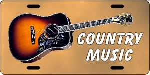Country Music License Plates