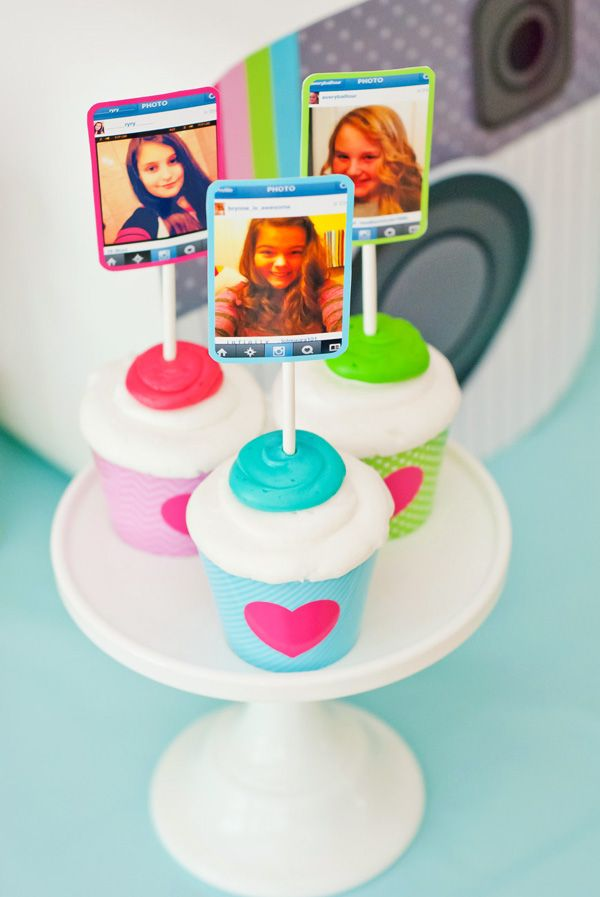 #Instagram #Birthday Party #cupcake toppers designed by @Anders Ruff Custom Designs labels by @OnlineLabels.com