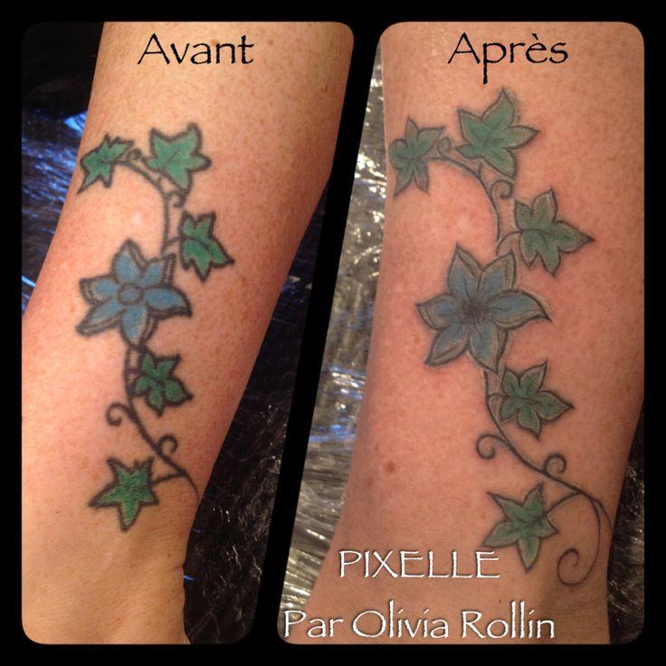 correction tatouage feuilles de lierre tatouage pixelle par olivia rollin pinterest. Black Bedroom Furniture Sets. Home Design Ideas