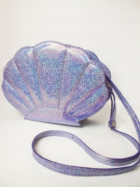 Purple Holographic Shell Bags In 2018 Pastel Nu Goth Pinterest Purses And Fashion