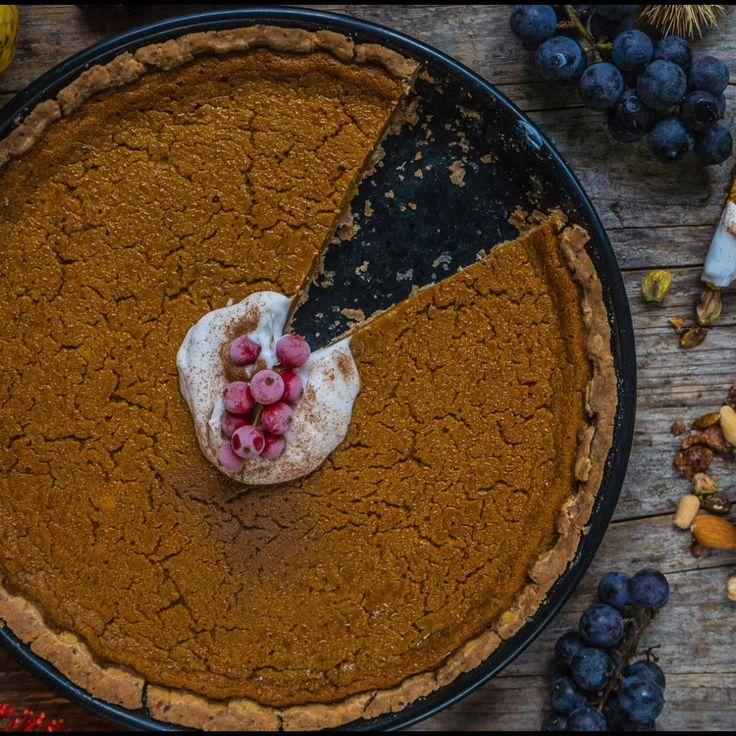 Gesunder Kürbiskuchen vegan / Kürbis Kuchen