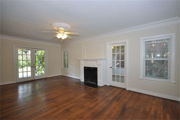 Antique white walls with white trim.  Not the style of our interior, just the colors.