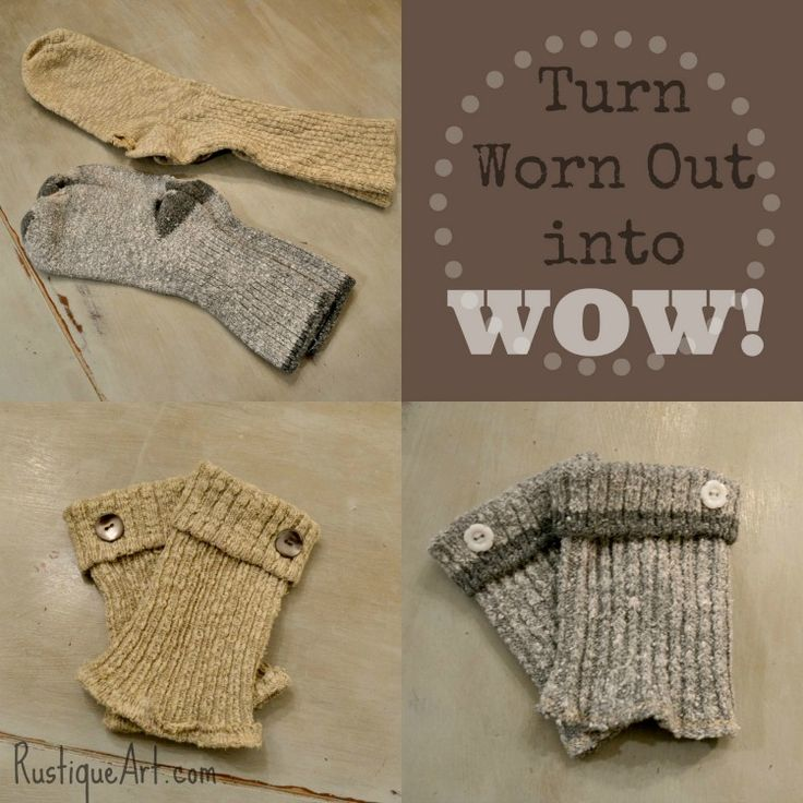 UpCycled Boot Cuffs from worn out socks.