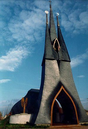 awesome_places - Lutheran Church by Imre Makovecz (Siofok/ Hungary)