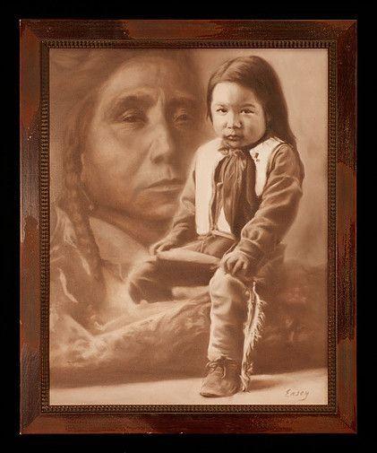 """Tatanka Isnala aka Lone Bull, aka John Lone Bull - Oglala """"child and grown up"""