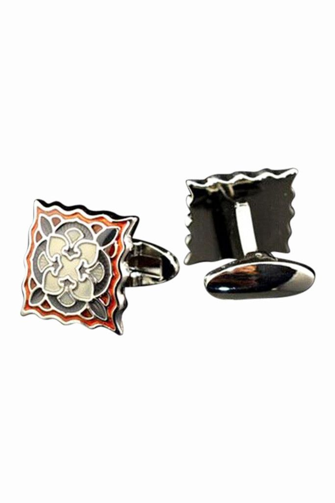 Retro Style Enamel Cufflinks. Free 3-7 days expedited shipping to U.S. Free first class word wide shipping. Customer service: help@moooh.net