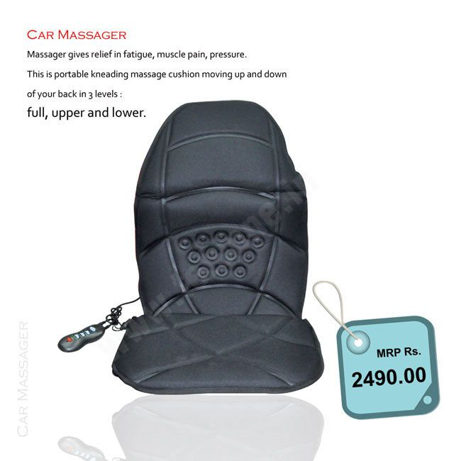 Car Massager  From Teleshop - Gives Relief in Fatigue, muscle Pain , pressure. Order Now @ 09312100300