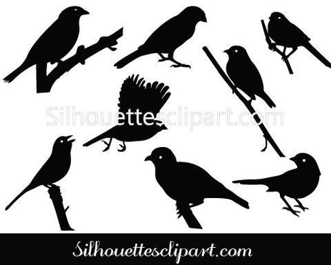 Sparrow Silhouette Vector
