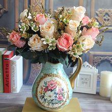 Krásne Očarujúce Očarujúce Palace Earl Rose viac farieb Umelé kvety Svadobné bytové dekorácie Flores Artificiales (Čína (pevninská časť))