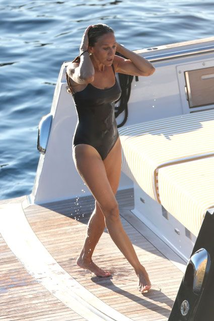 She's 50?! Sarah Jessica Parker stuns in her sexy swimsuit during an Ibiza vacation.