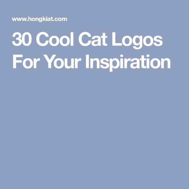 30 Cool Cat Logos For Your Inspiration