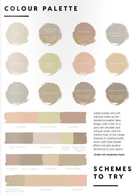 2017 palettes from dulux australia offer distilled colour | @meccinteriors | design bites