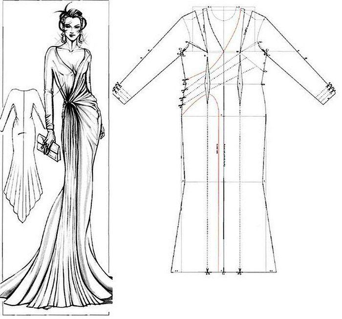 lindo diseños Robe de soirée patron gratuit Evening dress free pattern فستان حفلات تفصيل مجاني